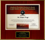AV Preeminent Highest Possible Rating in both Legal Ability & Ethical Standards